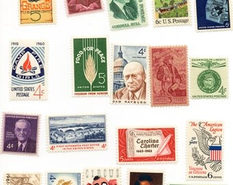 1960s Unused Postage Stamps - 25 All Different - Vintage Collectible