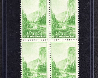 Yosemite 1934 - Four Unused Postage Stamps - Vintage Collectible