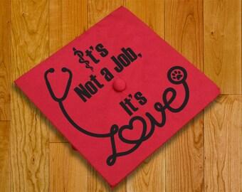 Vet or Vet Tech Graduation Hat Graphics (hat not included)