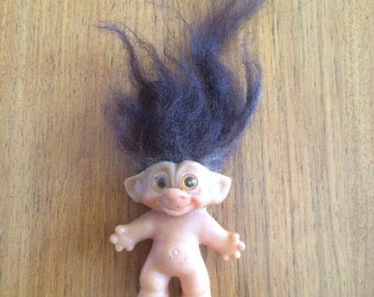 Vintage Naked Baby Troll Doll by Uneeda Known as Wishnik ,From the 1960's