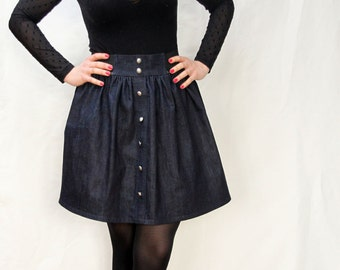 Organic cotton skirt with an elasticated waistband