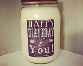 Birthday candle- Birthday gift, Soy candle, Chocolate candle, Cupcake candle, Happy Birthday