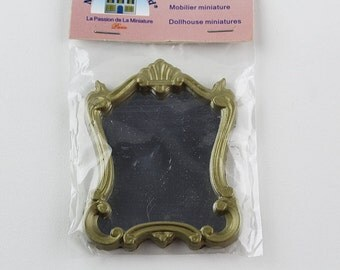 Miniature Dollhouse Mirror Antique Gold, DH106