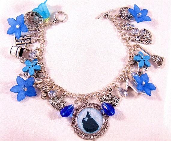 items similar to cinderella charm bracelet charm bracelet