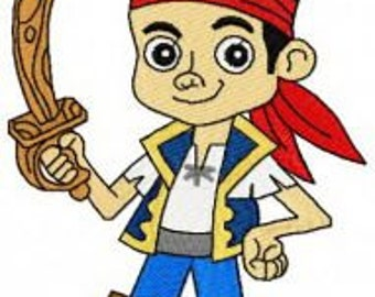 Jake and the neverland Pirates Embroidery Design pattern- several formats & sizes - Instant Download
