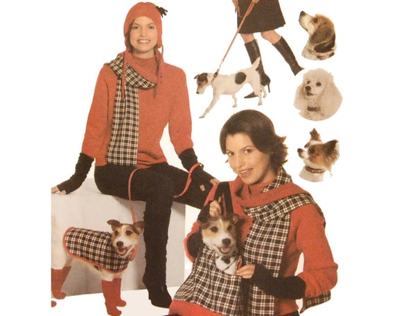 Simplicity 4749 Sewing Pattern Misses and Dog Accessories Bag Blanket Cushion Coat Leg Warmers Boots Collar Leash Hat Scarf Arm Warmer UNCUT