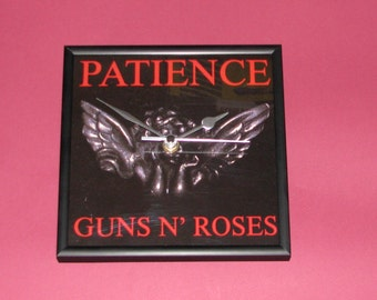 """Guns n Roses Patience 7"""" framed record cover clock"""