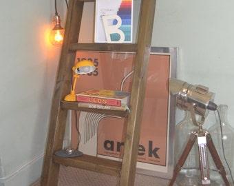 Industrial Mid Century Modern Ladder Bookcase Vintage Skandi Design