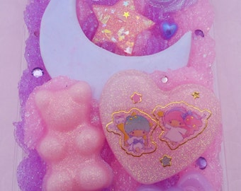 Little Twin Stars decoden cell phone case for Samsung Note 4 handmade anime yume kawaii