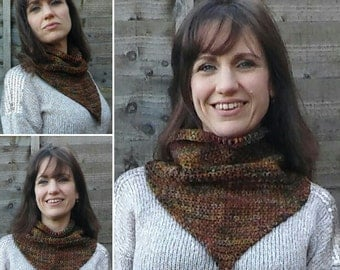 Country Western Handmade Crocheted Cowgirl Style Women's Cowl/Neck Scarf