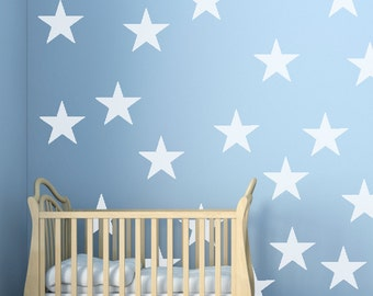 Wall Decals Stickers Stars - 1 to 19 inches high Bedroom Nursery Wall Large Wall Art