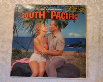 SOUTH PACIFIC Vinyl Record Album, Rodgers & Hammerstein Original Sound Track Recording, by RCA Victor, 1958