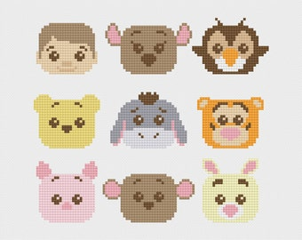 Winnie the Pooh Cross Stitch Pattern PDF Instant Download