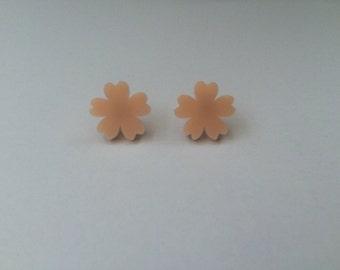 Big flower earrings.