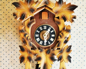 West Germany Cuckoo Clock - Made in Germany, Bavarian Black forest Mid Century