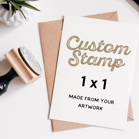 custom rubber stamp 1 x 1 custom logo stamp custom wedding stam