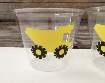 Construction Party Cups - Tractor Party, Birthday Party, First Birthday, Party Favors