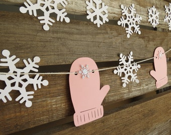 Winter Snowflakes, Garland, Winter Baby Shower, Party Decorations, Photo Prop