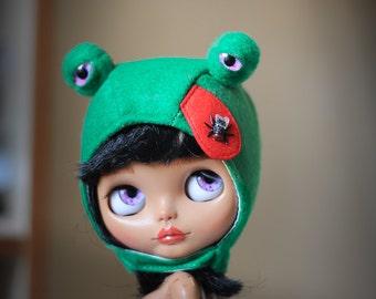 Blythe  hat frog  from Blablablythe