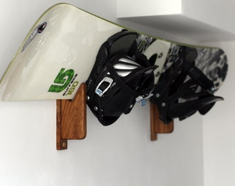 Oak Snowboard Wall Mount/Wall Hook
