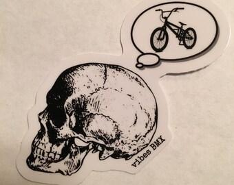 BMX on the brain sticker  It's always on my mind!