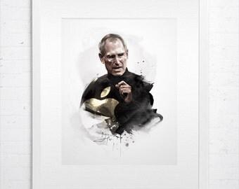 Steve Jobs — Original Art by David Xin