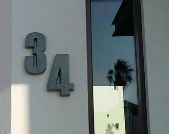 Modern house numbers Aluminum house numbers Modern Font