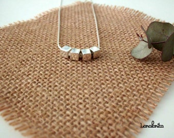 Pendant vertex. Silver Pendant. Beaded necklace.