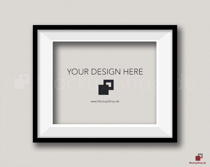 BLACK FRAME MOCKUP / 8x10 / horizontal Black Frame Mockup / Empty Mockup Frame / download Frame Mockup / Instand Download / Mockup