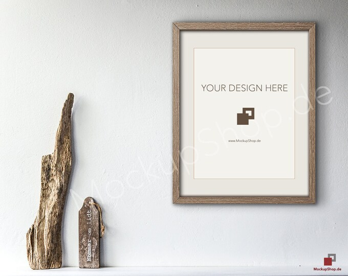 11x14 SHABBY WOOD FRAME Mockup Scene Smart Object / Set of 3 Scene / photo frame mockup scene creator / shabby wood vintage frame / vertical