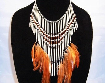 SILVER FRINGE NECKLACE and Earrings