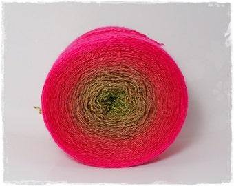 Summersplash* Merino silk Gradient Yarn hand dyed - Lace weight