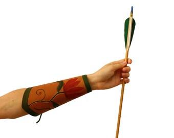 archery hand guard leather handmade