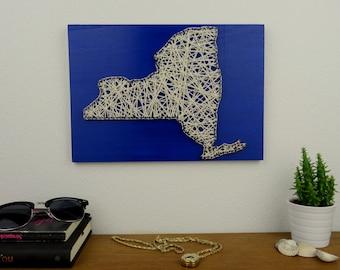 New York Map | State String Art | New York City | Boyfreind Gift | New York Print | Housewarming Gift | Map Art | Map Print | Gift Women