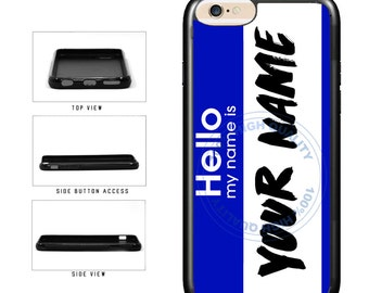 Personalized Custom Name Tag - iPhone 4 4s 5 5s 5c 6 6s 6 Plus 6s Plus iPod Touch