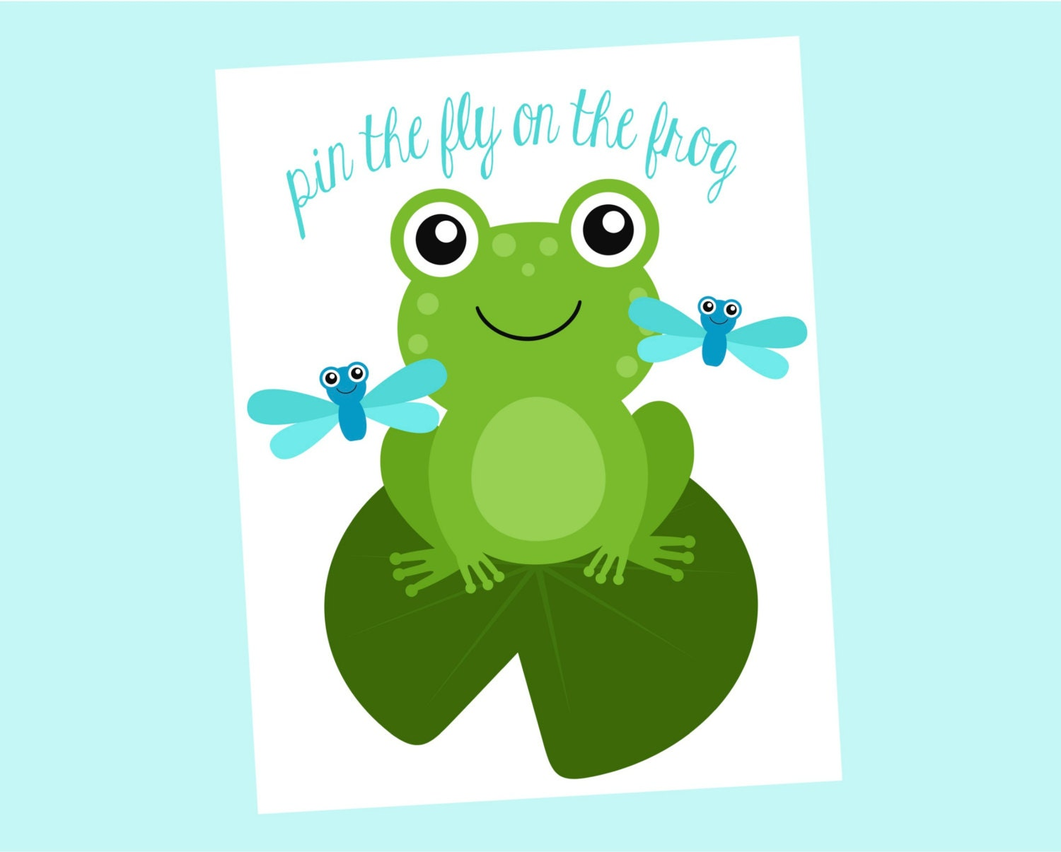 pin the fly on the frog printable game perfect for frog