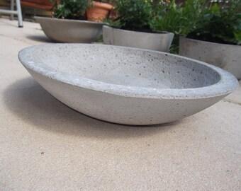 Concrete shell planting tray Dekoschale Ø27cm