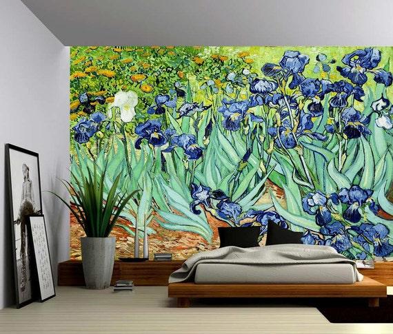 Iris Grande Murale Papier Peint En Vinyle Auto Adh Sif