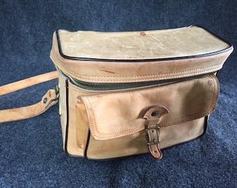 Vintage Cohen's leather camera bag