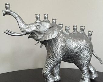 Menoraphant: elephant menorah