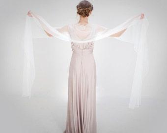 Brides Ivory Shawl/Wedding Shawl/Brides Wrap/Bridal Accessories/Tulle Shawl/Vintage Brides Wrap/Ivory Bridal Shawls/Ivory Soft Tulle Wrap