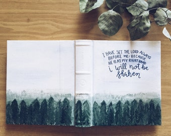 Hand Painted Bible- Twilight Forest