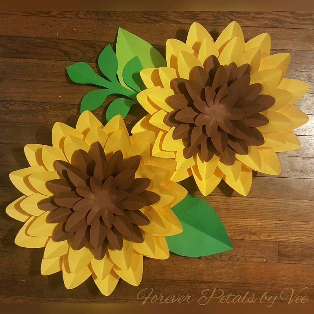 Pair of Paper Flower Wall