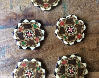 Vintage middle eastern coasters set of 5
