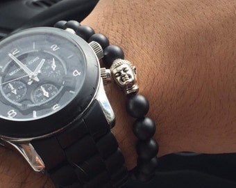 Buddha bead bracelet // arm envy // arm stack
