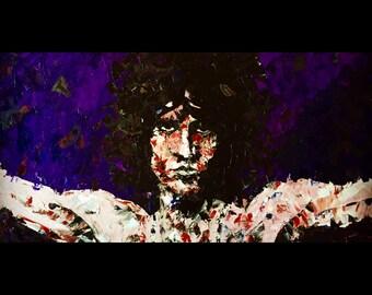Jim Morrison -- ORIGINAL Painting -- Oil and Palette Knife