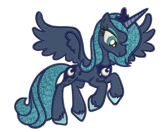 INSTANT DOWNLOAD Machine Embroidery Designs. Princess Luna. My Little Pony: Friendship Is Magic.