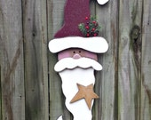 Primitive Santa - Solid Wood - Handmade - Christmas Winter Decor - Door or Wall Hanging - OFG, FAAP, HAFAIR, Team HaHa