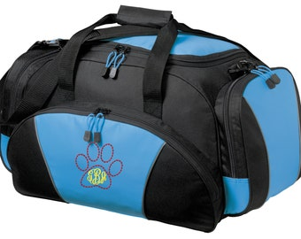 Mascot Gym Bag - Personalized - Monogrammed - Embroidered - Sports Bag - Sports Gift - Cat Paw Duffle Bag - BG91