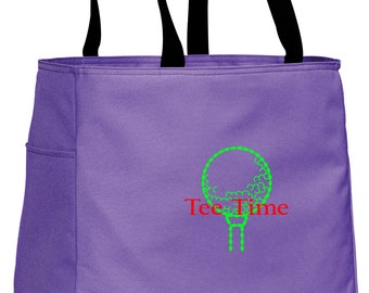 Personalized Tote Bag Embroidered Tote Bag Custom Tote Bag - Sports - Golf - B0750